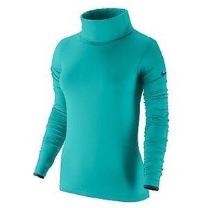 Nike Pro Hyperwarm Infinity Dri-Fit Teal Top Shirt